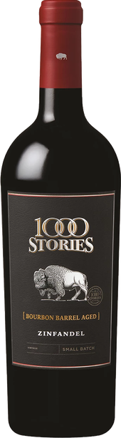 Rótulo 1000 Stories Bourbon Aged Zinfandel