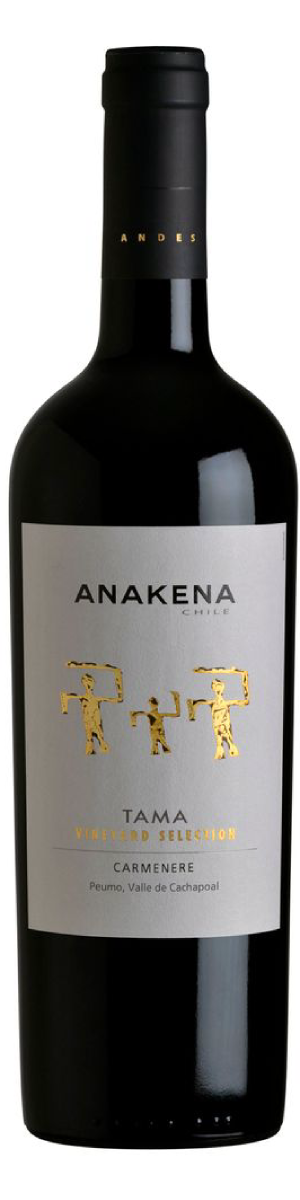 Rótulo Anakena Tama Vineyard Selection Carménère