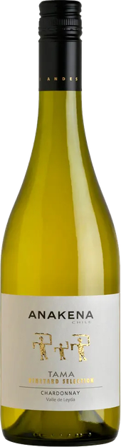 Rótulo Anakena Tama Vineyard Selection Chardonnay