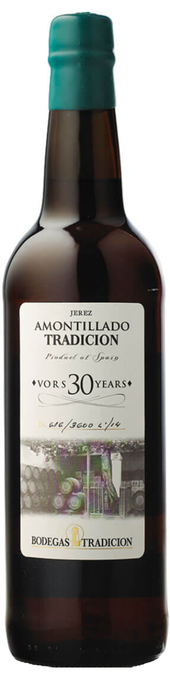 Rótulo Bodegas Tradición Amontillado 30 Years Old