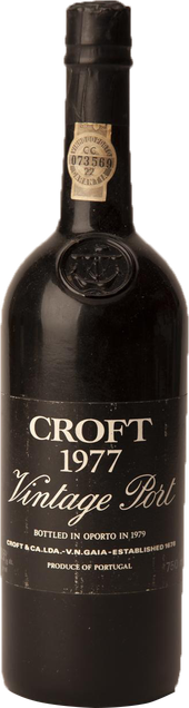 Rótulo Croft VIntage Port