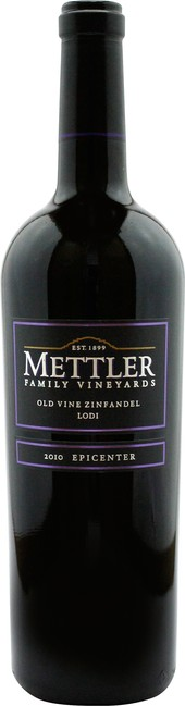 Rótulo Mettler Family Vineyards Old Vine Zinfandel Lodi Epicenter