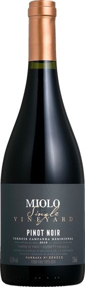 Rótulo Miolo Single Vineyard Pinot Noir