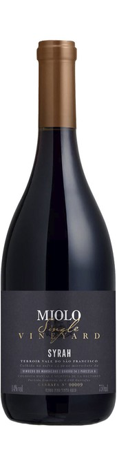 Rótulo Miolo Single Vineyard Syrah
