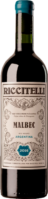Rótulo Riccitelli Old Vines From Patagonia Malbec