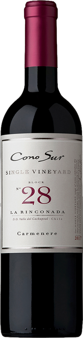 Rótulo Single Vineyard Block 28 La Rinconada Carménère