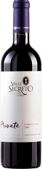Rótulo Valle Secreto Private Cabernet Franc