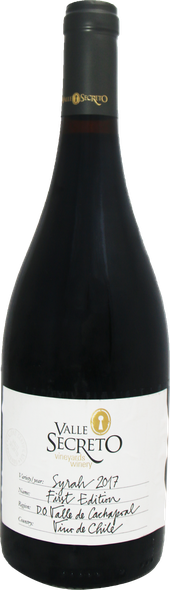 Rótulo Valle Secreto First Edition Syrah